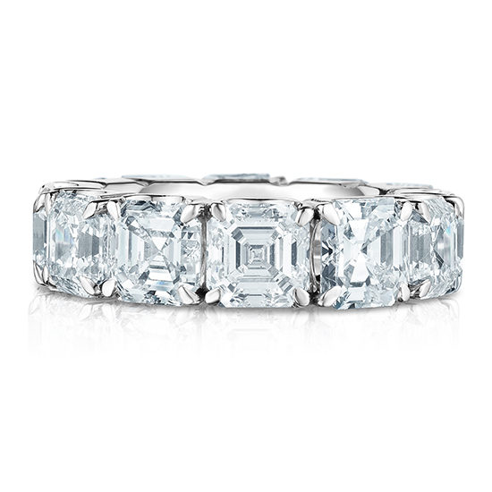12 Carat Asscher Wedding Band
