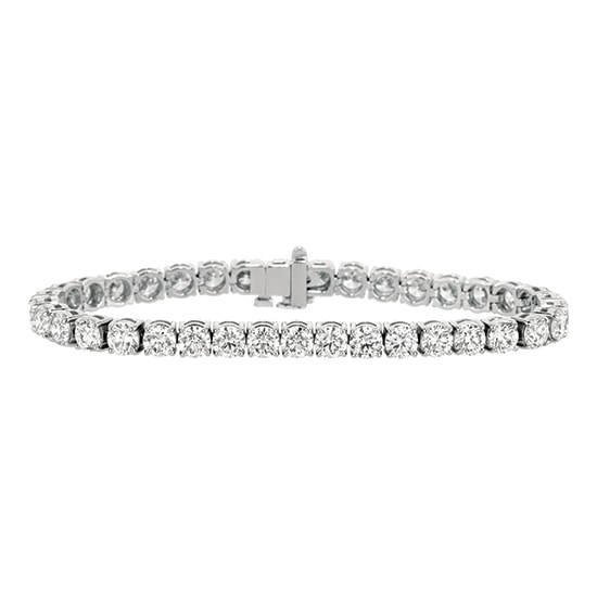 14.43 Total Carat Weight Round Brilliant Diamond Tennis Bracelet