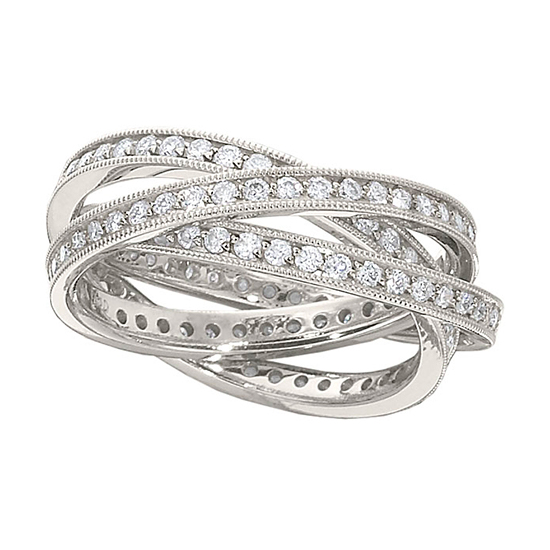 1.50 Total Carat Weight Triple Rolling Ring