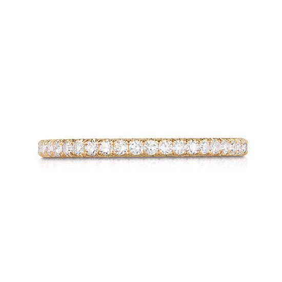 One Point Micro Pave Diamond Band 18K Rose Gold   Marisa Perry by Douglas Elliott