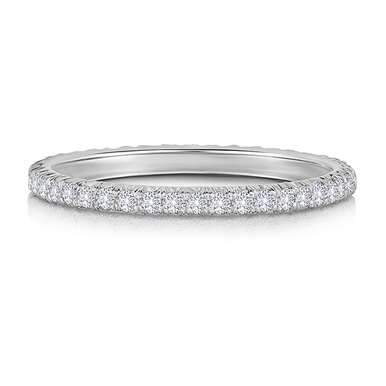 One Point Platinum Micro pave Diamond Band | Marisa Perry by Douglas Elliott