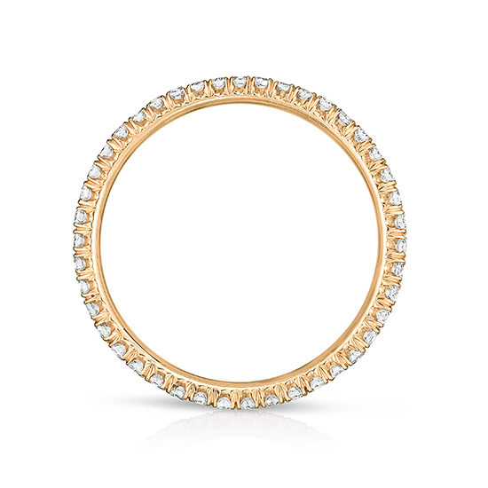 One Point Micro Pave Diamond Band 18K Rose Gold | Marisa Perry by Douglas Elliott