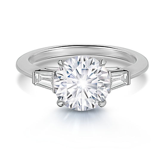 2.20 Carat Round Brilliant Diamond Three Stone Ring | Marisa Perry by Douglas Elliott