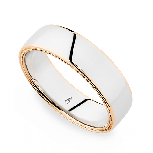 Christian Bauer Two Tone Band Platinum and 18K Rose Gold