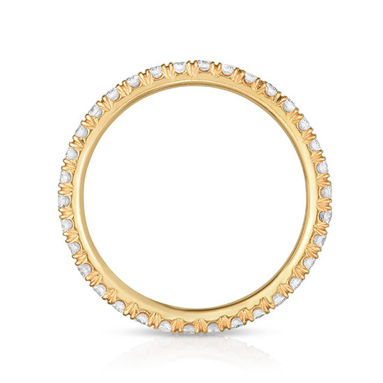 Two Point Diamond Micro Pave Eternity Band 18K Rose Gold   Marisa Perry by Douglas Elliott