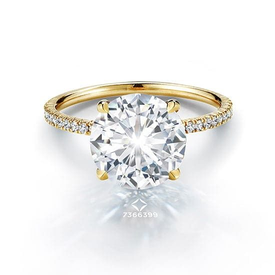 3.02 Carat Round Brilliant DE Diamond Solitaire | Marisa Perry by Douglas Elliott