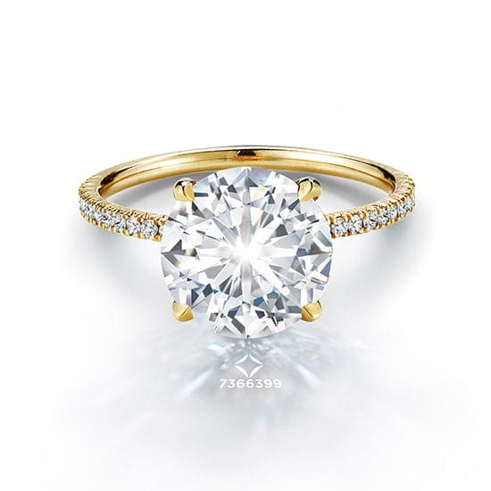 3.02 Carat Round Brilliant Forevermark DE Diamond Solitaire | Marisa Perry by Douglas Elliott