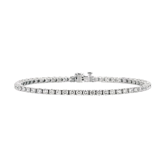 4.48 Total Carat Weight Round Brilliant Diamond Tennis Bracelet