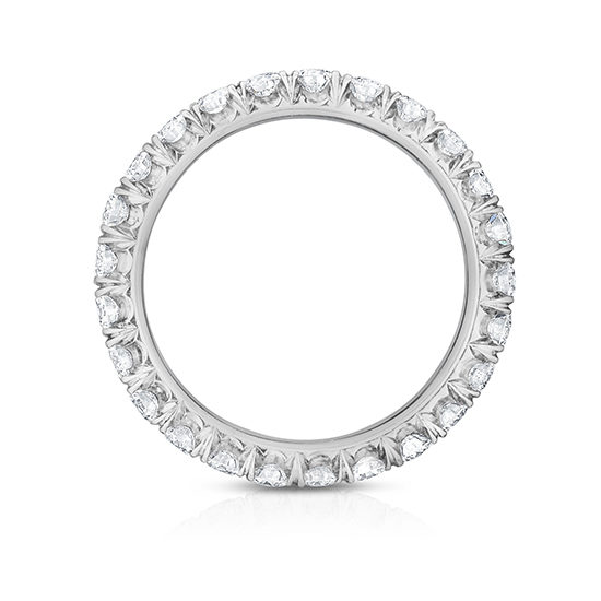 Five Point Micro Pave Eternity Band   Marisa Perry by Douglas Elliott