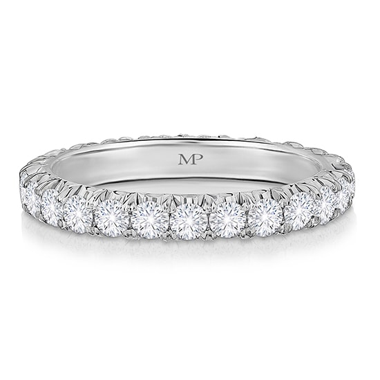 Five Point Micro Pave Eternity Band | Marisa Perry by Douglas Elliott