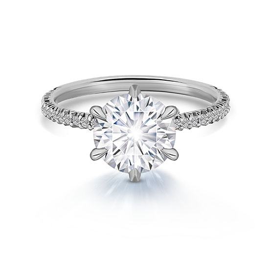 Micro Pave Engagement Rings Micro Pave Ring Nyc Marisaperry Com