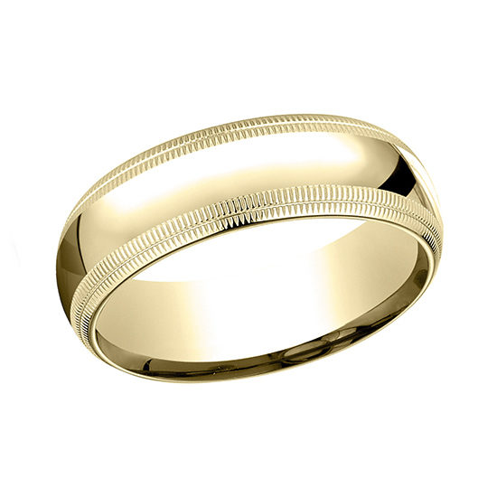 Double Milgrain Comfort Fit Band 14k Yellow Gold