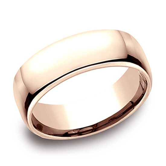 European Comfort Fit Band 14k Rose Gold