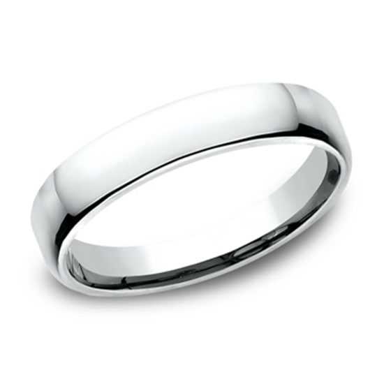 European Comfort Fit Band 14k White Gold