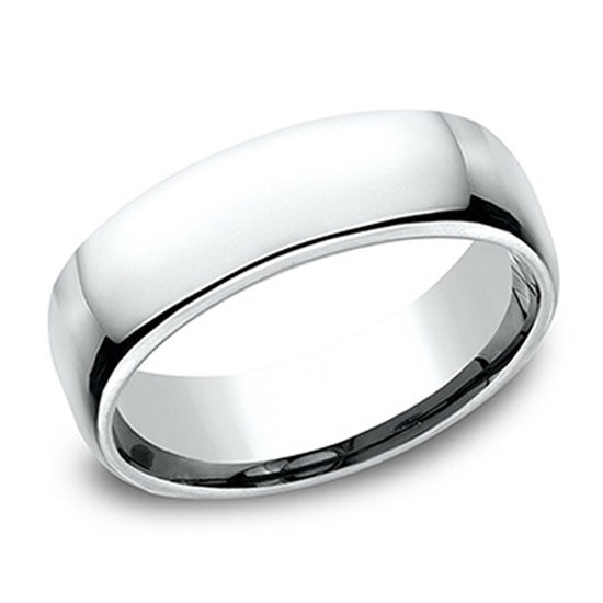 European Comfort Fit Band 18K White Gold