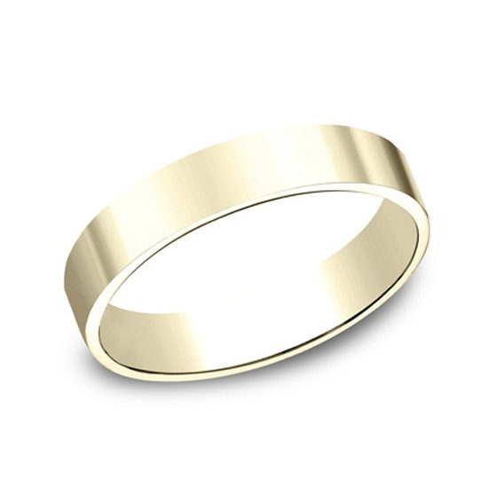 Flat Plain Band 14k Yellow Gold
