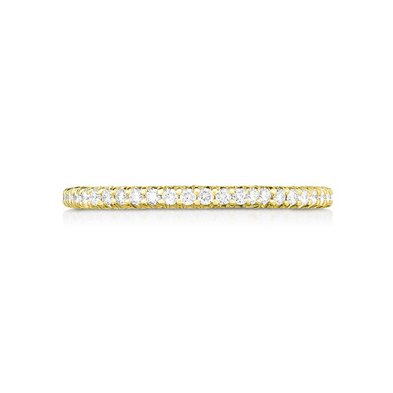 Half Point Micro Pave Diamond Band 18K Yellow Gold | Marisa Perry by Douglas Elliott