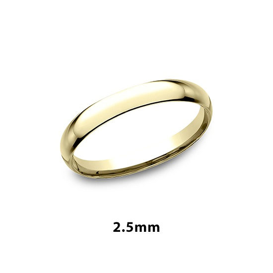 Low Dome Comfort Fit 14k Yellow Gold