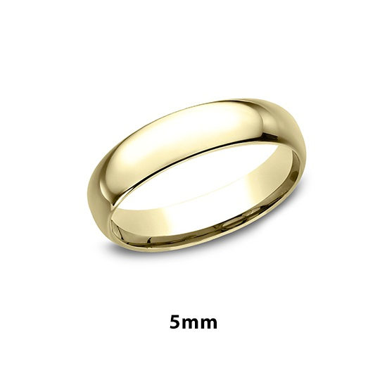 Low Dome Comfort Fit 18k Yellow Gold