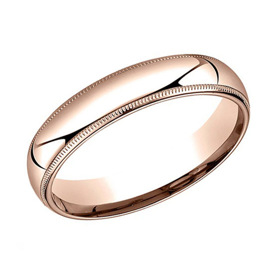 Milgrain Comfort Fit Band 14k Rose Gold