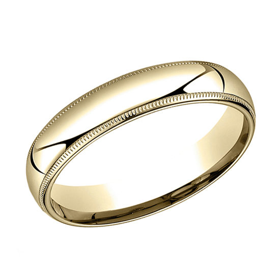 Milgrain Comfort Fit Band 14k Yellow Gold