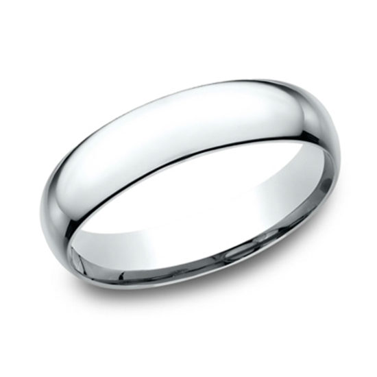 Super Light Comfort Fit Band 14K White Gold
