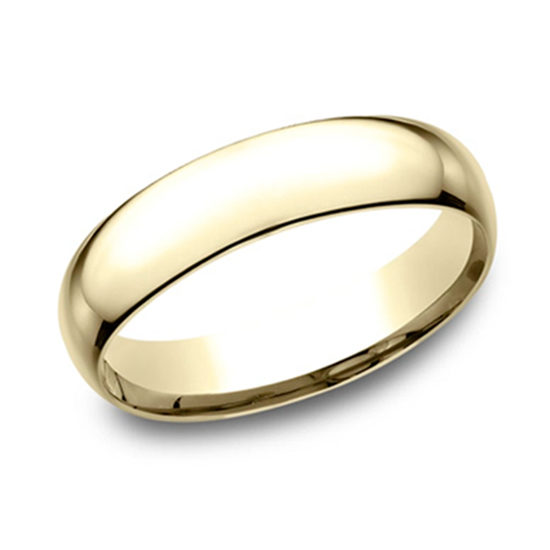 Super Light Comfort Fit Band 14K Yellow Gold