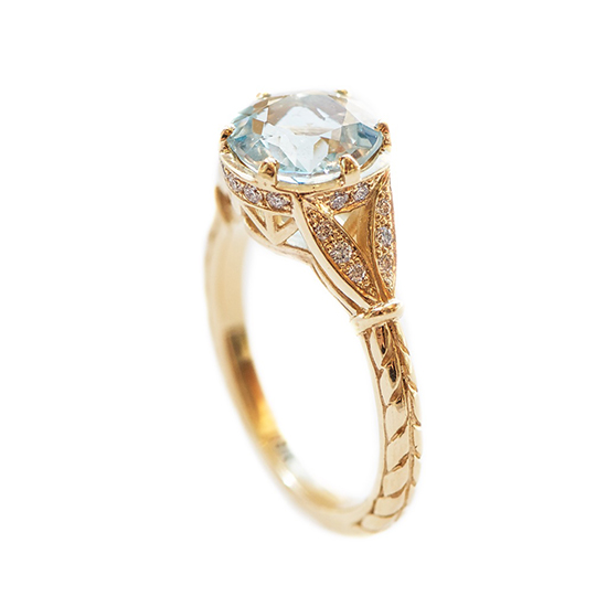 Aquamarine Ring | Marisa Perry by Douglas Elliott
