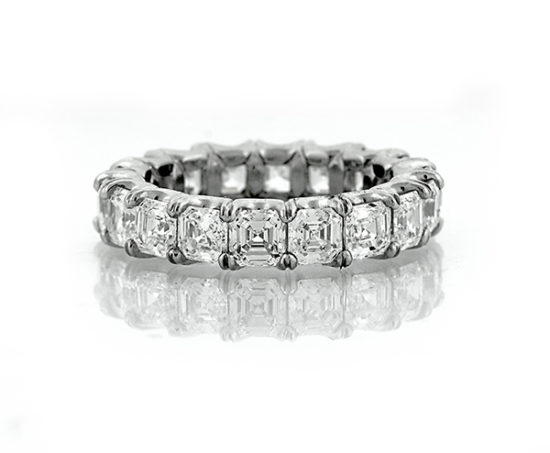 5.75 Carat Asscher Eternity Band