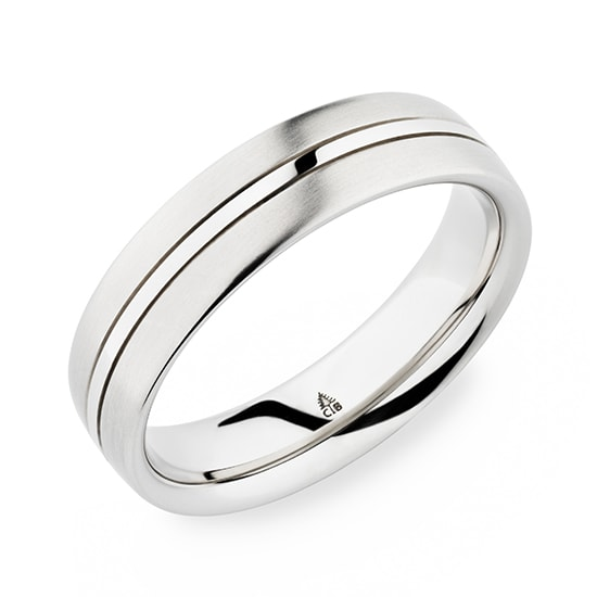 Christian Bauer Modern 18k White Gold Mens Band