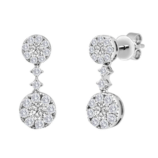 Forevermark CenterDrop Double Earrings by Galili & Co