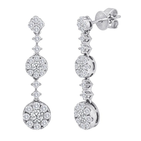 Forevermark CenterDrop Triple Earrings by Galili & Co