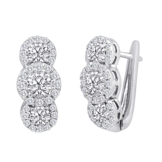 Forevermark CenterHuggies Earrings by Galili & Co