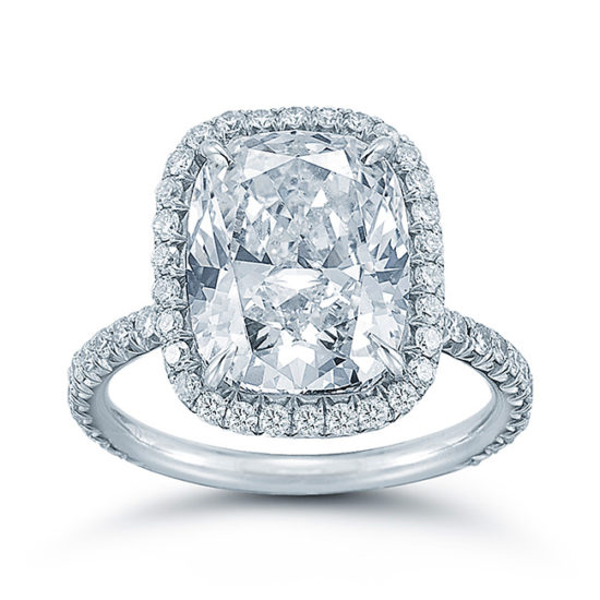The Rectangular Cushion Cut InLove Setting | Marisa Perry by Douglas Elliott
