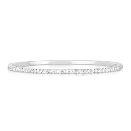 Diamond Bangle 18k White Gold