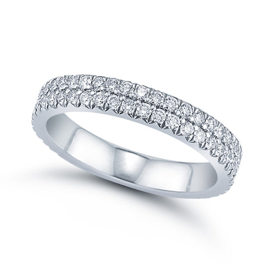 Double Row Micro Pave Band
