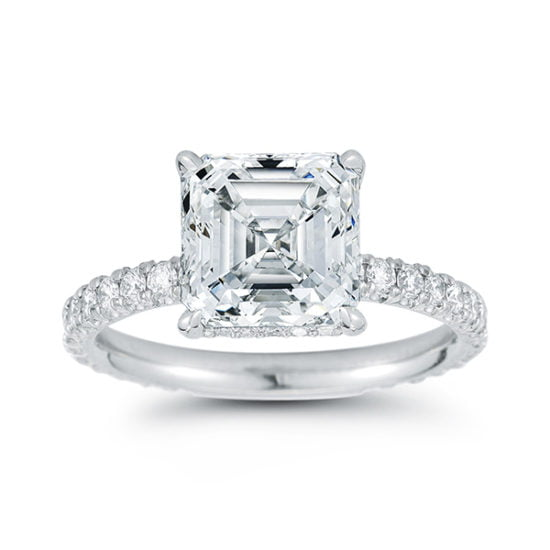The DE Asscher Cut Diamond Solitaire | Marisa Perry by Douglas Elliott
