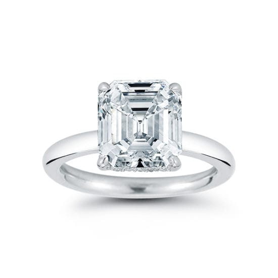 The DE Asscher Cut Solitaire | Marisa Perry by Douglas Elliott