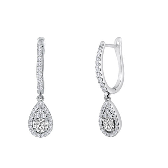Forevermark FancyRound Drop Earrings - Pear Look by Galili & Co