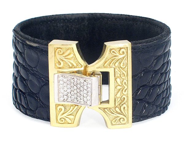Gold Marrakesh Croco Cuff