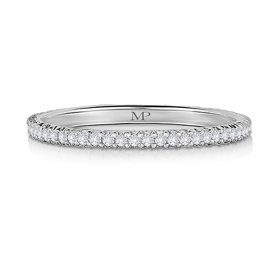 Half Point Diamond Micro Pave Band Platinum | Marisa Perry by Douglas Elliott