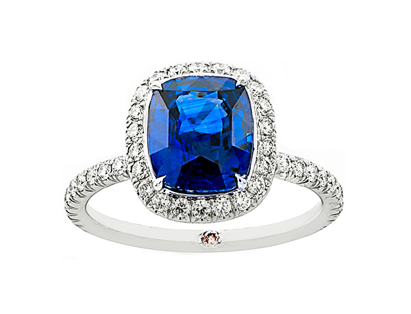 The Cushion InLove with Blue Sapphire | Marisa Perry by Douglas Elliott