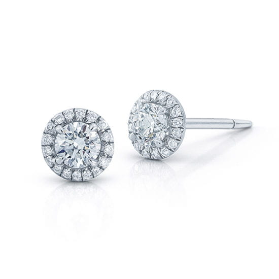 Micro Pave Stud Earrings