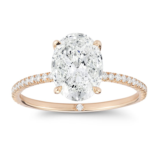 DE Oval Cut Diamond Solitaire Setting | Marisa Perry by Douglas Elliott