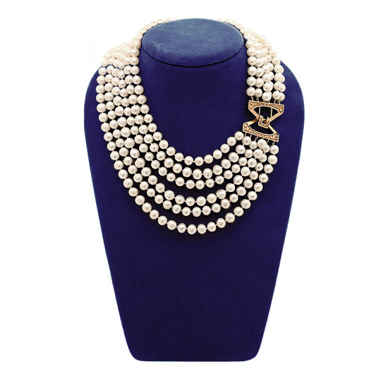 Six Strand Pearl Necklace