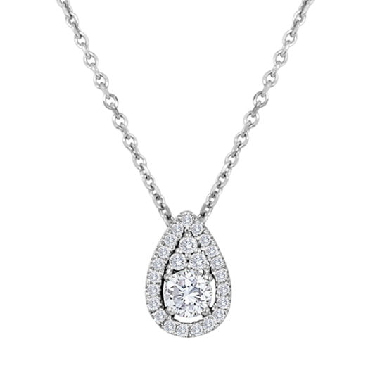 Forevermark FancyRound Pendant - Pear shaped by Galili & Co