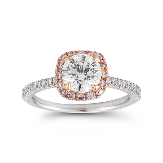 The InLove Setting with Pink Diamonds | Marisa Perry by Douglas Elliott