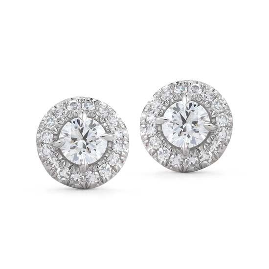 Platinum Micro Pave Stud Earrings