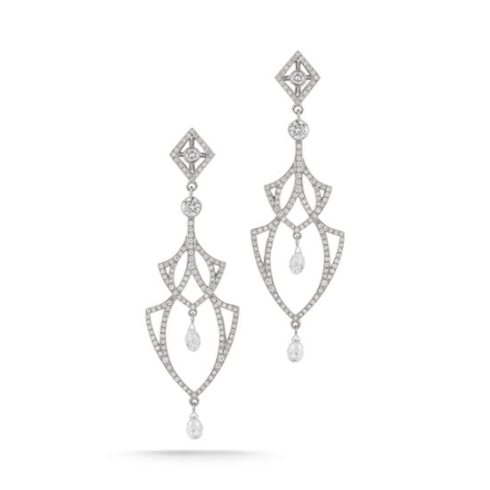 Rock & Roll Princess Earrings 18k White Gold