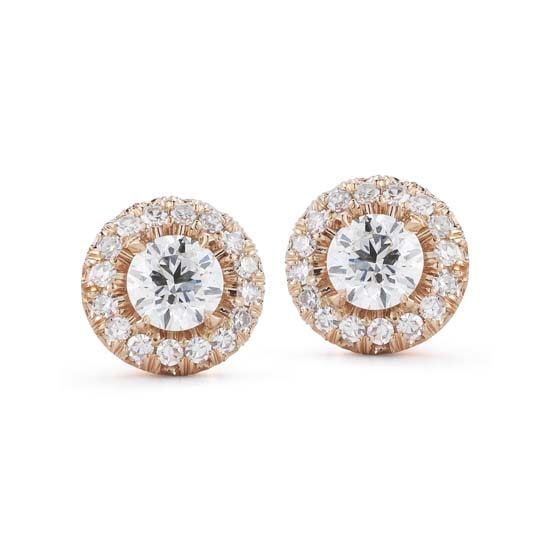 Rose Gold Micro Pave Stud Earrings